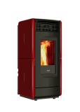 Vittoria wood pellet stove red
