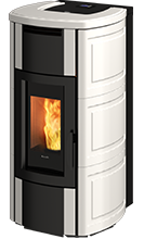 HRV160 touch_ wood pellet boiler stove with self cleaning burner