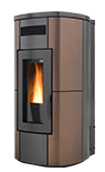 HRV 200 touch_ wood pellet boiler stove with self cleaning burner