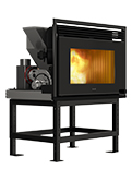 RCV1000 ducted insert wood pellet stove