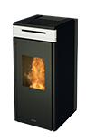 hrv100 touch_ wood pellet boiler stove with self cleaning burner