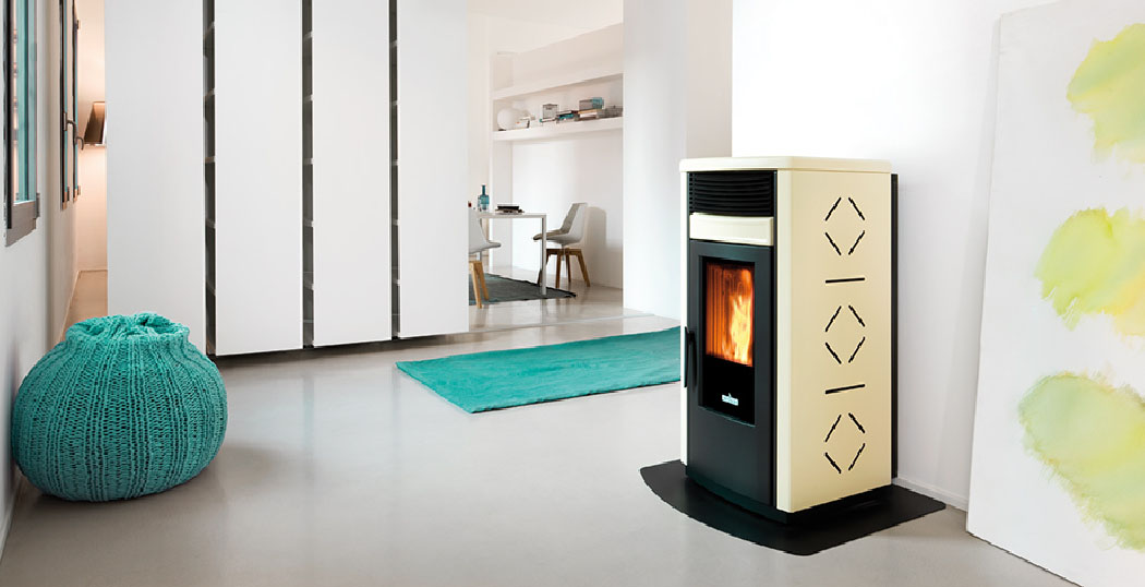 RC 120 ducted wood pellet stove
