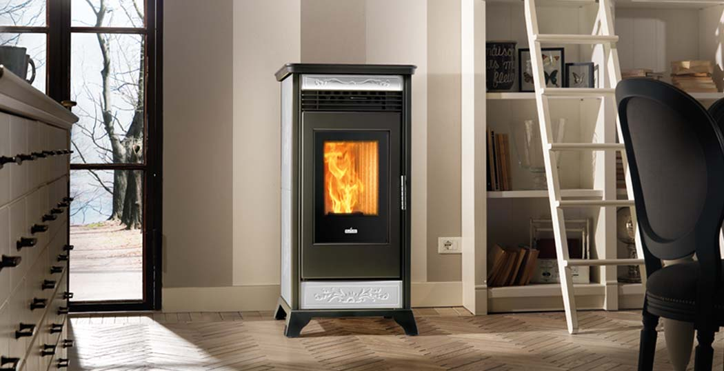 The Rv110 ventilated pellet stove is a powerhouse unit with modern and elegant styling