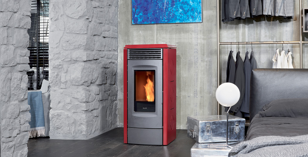 rv120 Touch large Space Heating pellet stove