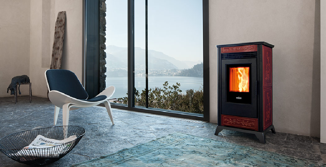 The Rv80 ventilated pellet stove stands out from the rest