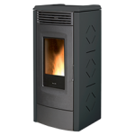 Rv120 touch pellet stove with self cleaning burner