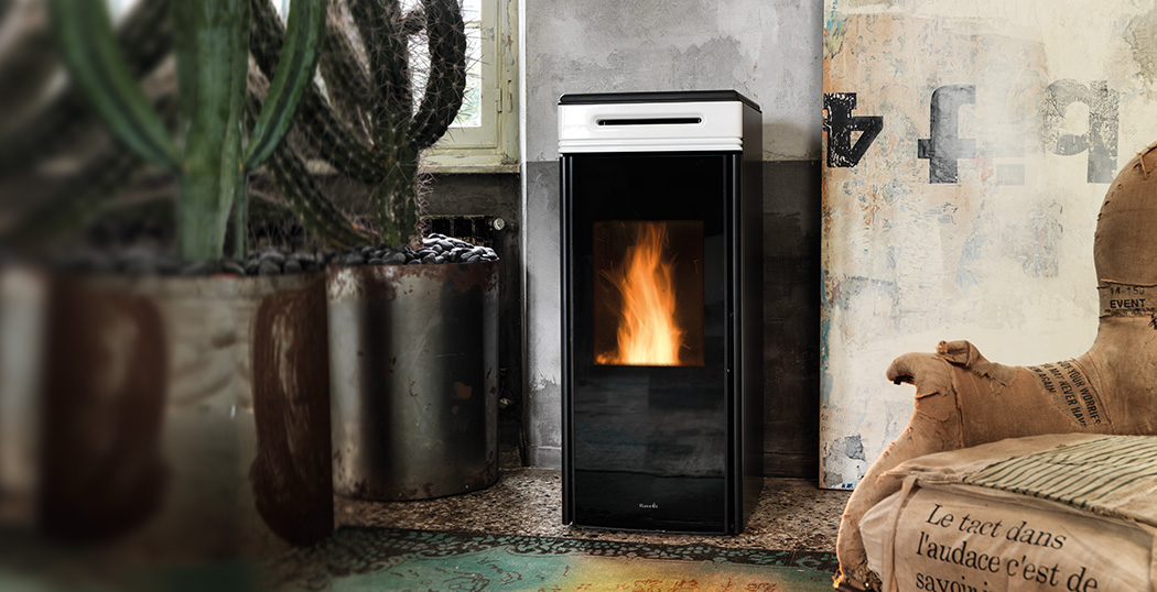 Heat Wood Pellets ~ The hrv touch is a compact pellet boiler stove