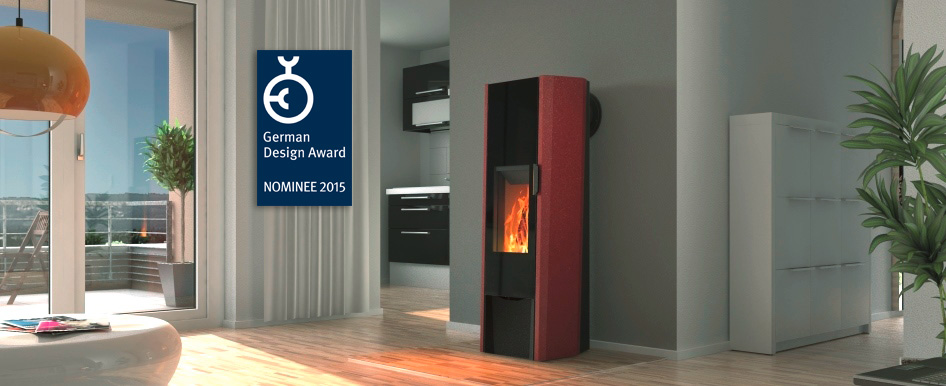 T-ARTeco wood burning storage stove hermetically sealed for airtight or passive houses.