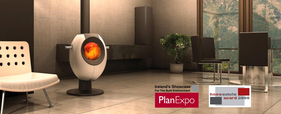 Tonwerk T EYE wood burning storage stove made in Switzerland