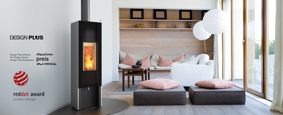 Tonwerk T-ONE Stone wood burning storage stove made in Switzerland