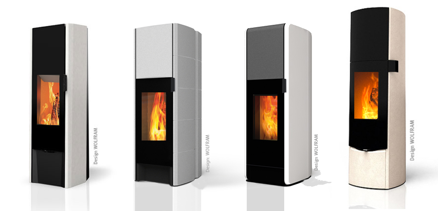 Eco2 Series wood burning storage stove hermetically sealed for airtight or passive houses.