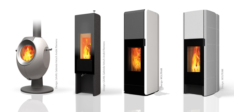 Tonwerk wood burning storage stove hermetically sealed for airtight or passive houses.