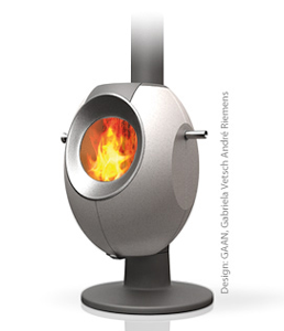Wood burning storage stoves made in Switzerland