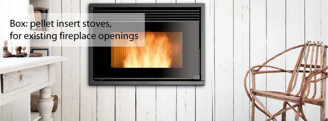 Wood pellet insert stoves by Ravelli