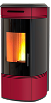 The HRV100 Globe wood pellet boiler stove, suitable for all your heating needs