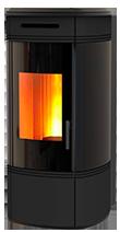 The HRV140 Globe wood pellet boiler stove