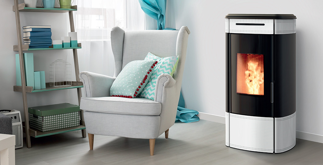 The HRV140 Globe is a compact pellet boiler stove