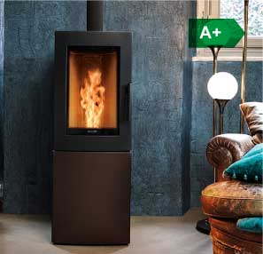Alfa silent natural convection wood pellet stove