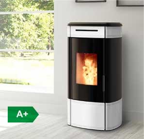 HRV140 Globe boiler wood pellet stove