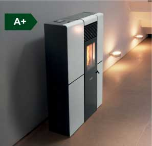 Olivia Steel Ducted wood pellet stove