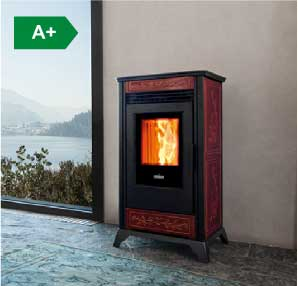 Rv 80 ventilated wood pellet stove