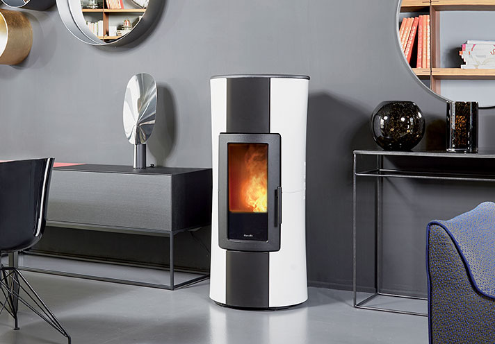 wood pellet stoves by Ravelli