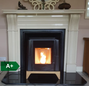 aria silent natural convection wood pellet stove