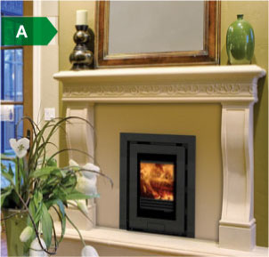Di Lusso insert wood burning stoves