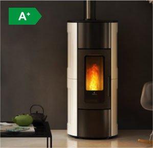 Flexi 11 silent natural convection wood pellet stove