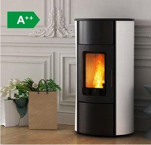 Flexi 7 silent natural convection pellet stove