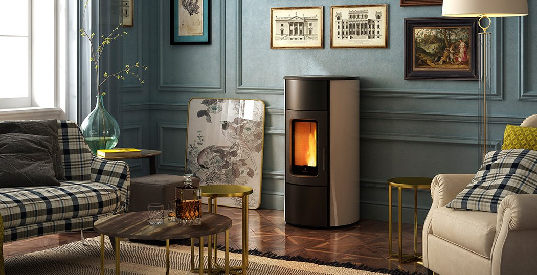 FLEXI 9 ventilated, ducted and convection wood pellet stove