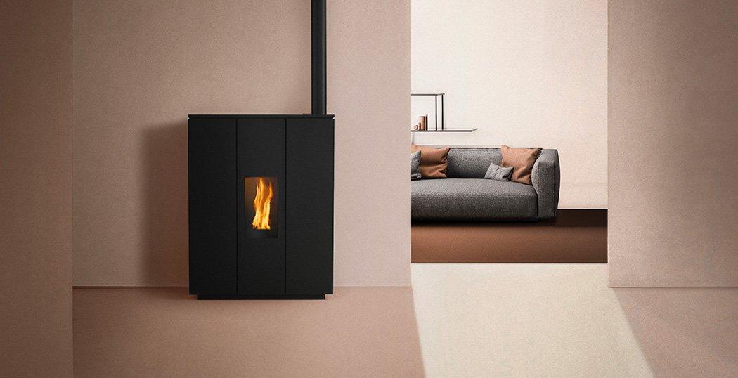 Hrv180 Silhouette Wood Pellet Boiler Stove for Central Heating