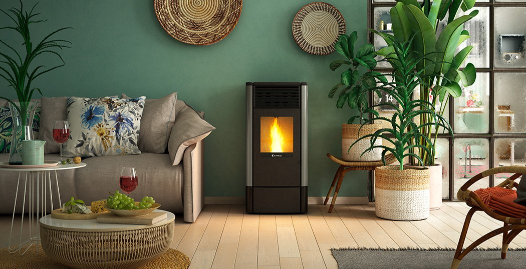 S90 ventilated air wood pellet stove