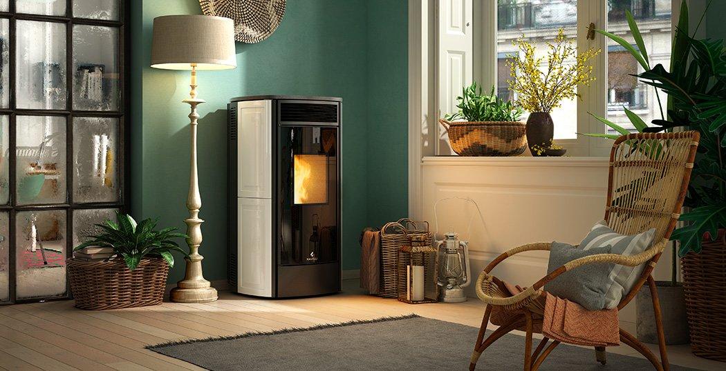 Sphere V ventilated wood pellet stove