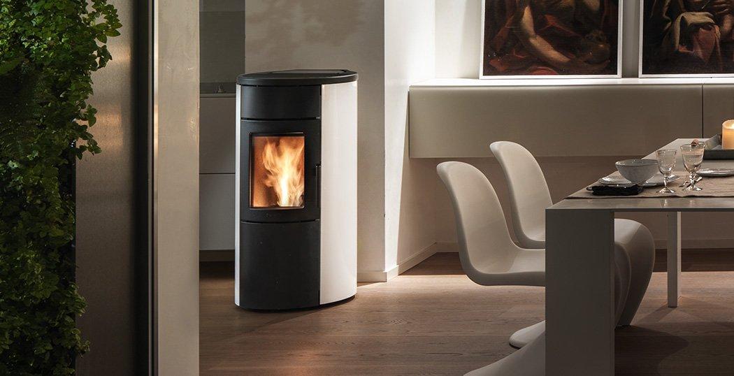 Whisper 7 silent natural convection wood pellet stove