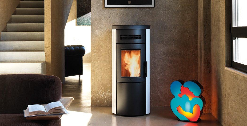Dual 7 convection wood pellet stove