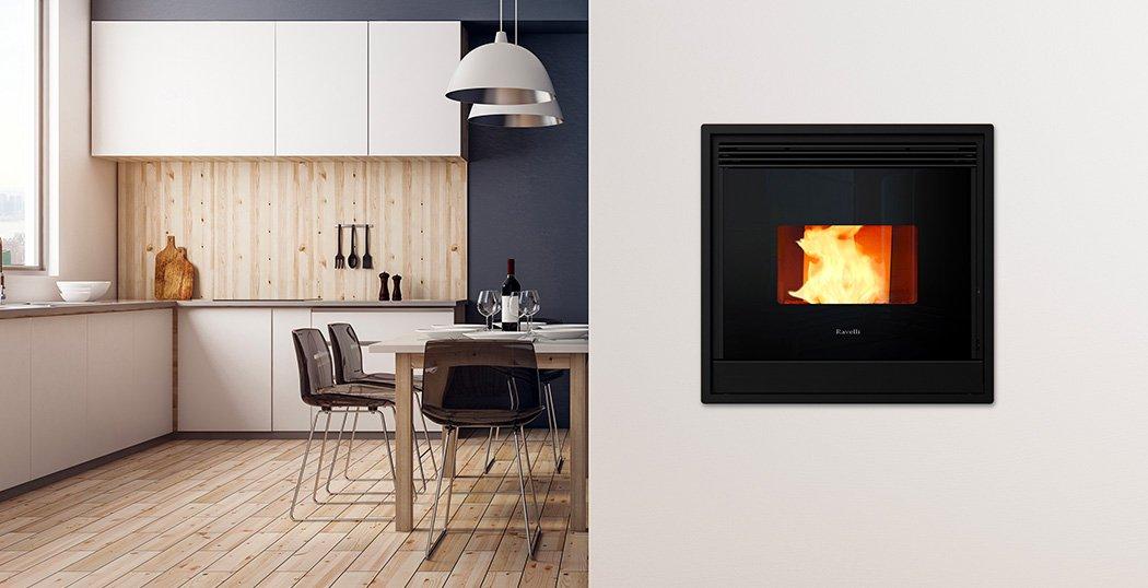 Insert Wood Pellet Boiler Stove for Central Heating